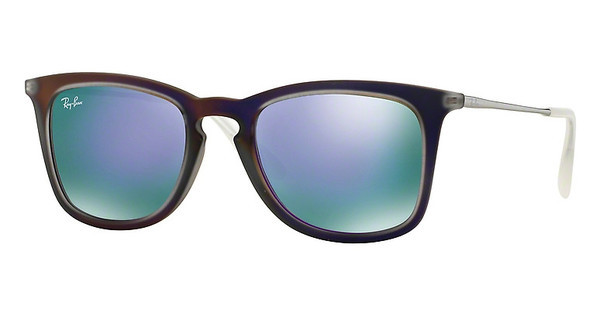 Ray-Ban RB4221 61684V GREY MIRROR VIOLETSHOT VIOLET RUBBER