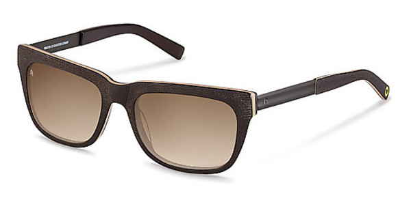 Rocco by Rodenstock RR318 F sun protect brown gradient - 77%dark chocolate, sand layered