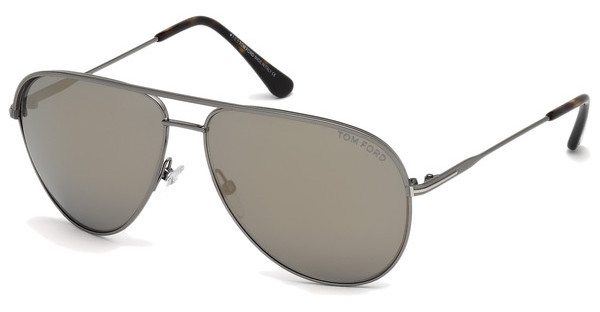 Tom Ford FT0466 13C grau verspiegeltruthenium dunkel matt