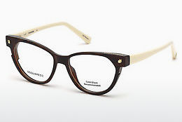 Lunettes design Dsquared DQ5248 053 - Havanna, Yellow, Blond, Brown