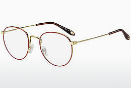 Lunettes design Givenchy GV 0072 Y11 - Or, Rouges