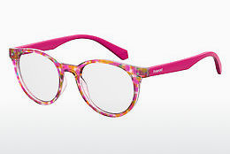 Lunettes design Polaroid Kids PLD D814 2TM - Rose, Rouges, Brunes, Havanna