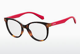 Lunettes design Polaroid Kids PLD D815 O63 - Rouges, Brunes, Havanna