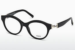 Lunettes design Tod's TO5173 001 - Noires, Shiny