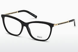 Lunettes design Tod's TO5198 001 - Noires, Shiny