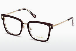 Lunettes design Tom Ford FT5507 071 - Bourgogne, Bordeaux