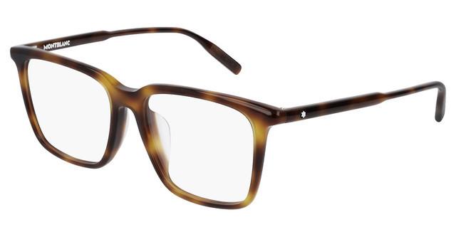 D 052 Dark Havana Clear Lens Eyeglasses Mont Blanc MB 0741