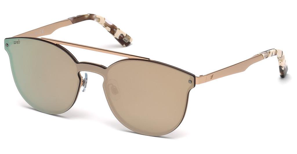 Web Eyewear   WE0190 34G braun verspiegeltbronze hell glanz