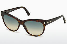 Lunettes de soleil Tom Ford Lily (FT0430 52P) - Brunes, Dark, Havana