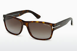 Lunettes de soleil Tom Ford Mason (FT0445 52B) - Brunes, Dark, Havana