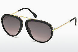 Lunettes de soleil Tom Ford Stacy (FT0452 02T) - Noires, Matt