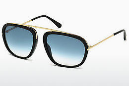 Lunettes de soleil Tom Ford Johnson (FT0453 01P) - Noires, Shiny