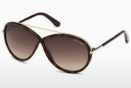 Ophthalmic Glasses Tom Ford Tamara (FT0454 52K) - Brown, Dark, Havana