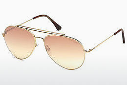 Lunettes de soleil Tom Ford Indiana (FT0497 28Z) - Or