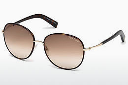 Lunettes de soleil Tom Ford Georgia (FT0498 52F) - Brunes, Dark, Havana