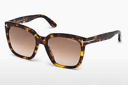 Lunettes de soleil Tom Ford Amarra (FT0502 52F) - Brunes, Dark, Havana