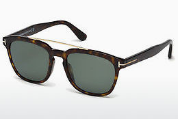 Lunettes de soleil Tom Ford Holt (FT0516 52R) - Brunes, Dark, Havana