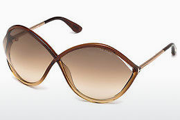 Ophthalmic Glasses Tom Ford Liora (FT0528 50F) - Brown, Dark