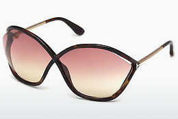Lunettes de soleil Tom Ford Bella (FT0529 52Z) - Brunes, Dark, Havana