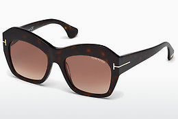 Ophthalmic Glasses Tom Ford Emmanuelle (FT0534 52F) - Brown, Dark, Havana