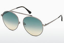 Lunettes de soleil Tom Ford FT0571 14W - Grises, Shiny, Bright