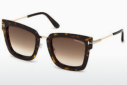 Lunettes de soleil Tom Ford FT0573 52F - Brunes, Dark, Havana