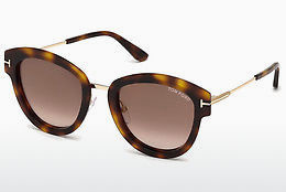 Lunettes de soleil Tom Ford FT0574 52G - Brunes, Dark, Havana
