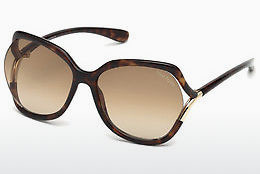 Lunettes de soleil Tom Ford FT0578 52F - Brunes, Dark, Havana