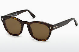 Lunettes de soleil Tom Ford FT0590 52J - Brunes, Dark, Havana