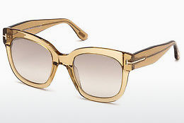 Lunettes de soleil Tom Ford FT0613 45F - Brunes, Bright, Shiny