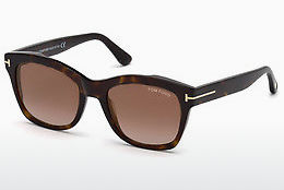 Lunettes de soleil Tom Ford FT0614 52F - Brunes, Dark, Havana