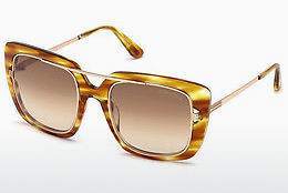 Lunettes de soleil Tom Ford FT0619 47F - Brunes, Bright