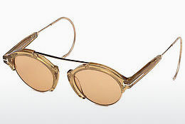 Lunettes de soleil Tom Ford FT0631 45E - Brunes, Bright, Shiny