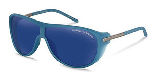 Porsche Design P8598 B blue, silver mirroredlight blue-green