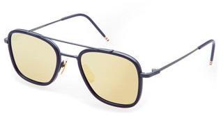 Thom Browne TB-800 E Dark Brown - Gold Mirror - ARMatte Navy-Navy