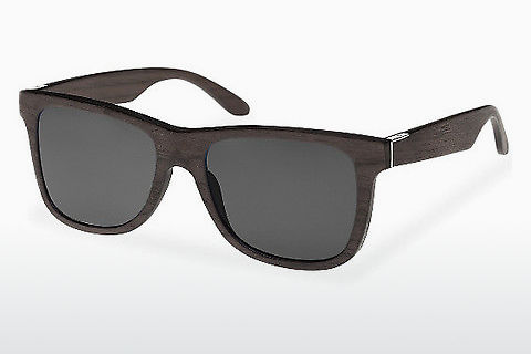 Lunettes de soleil Wood Fellas Prinzregenten (10755 black oak/grey)